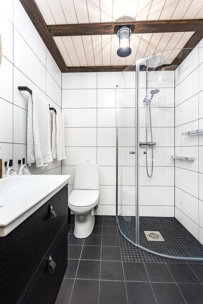 Väikese dushinurgaga vannitoa remont